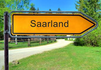 Strassenschild 3 - Saarland