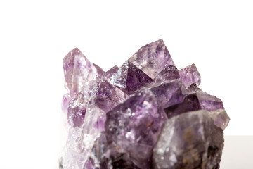 Amethyst on white background