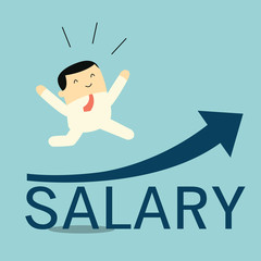 Happy salary raise