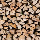 Dry chopped firewood logs.