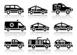 Set of service automobiles black icons - 62015969