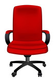 red office chair icon