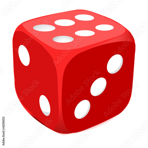 Vector red dice