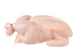 Raw chicken it is isolated on a white background