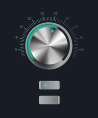 Technology music button volume settings, sound control