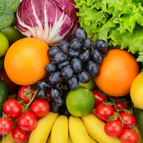 set fruit and vegetable