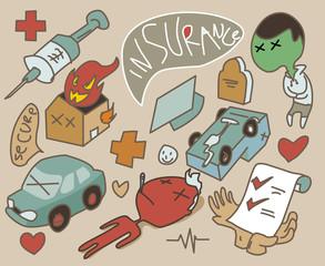insurance set symbol