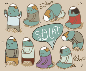 flat salat vector