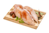 Raw chicken fillet