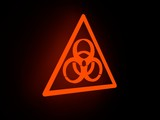 flash light biohazard icon