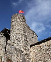 Pérouges et la tour du guet.