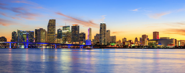 Panoramic sunset, Miami