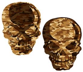 迷彩の頭蓋骨