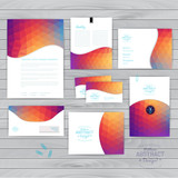 Vector corporate identity, wave pattern. Abstract backdrop.Geome