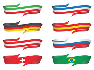flags ribbon