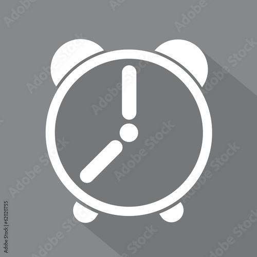 White alarm clock icon
