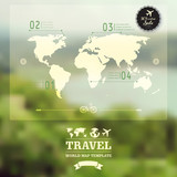 Vector blurred natural landscape.  Map on blurry background. Ide