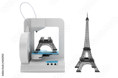 3d printer build Eiffel Tower Model