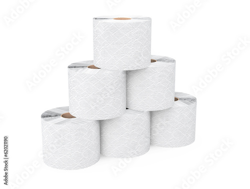 Pyramid from toilet paper rolls