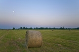 Straw bale with moon