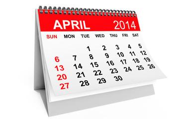 Calendar April 2014