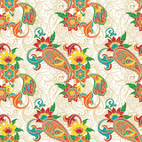 Colorfull paisley pattern