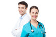 Male and female doctors - 62022502