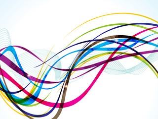 abstract colorful line wave background