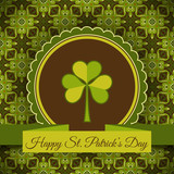 Patrick's day card vector