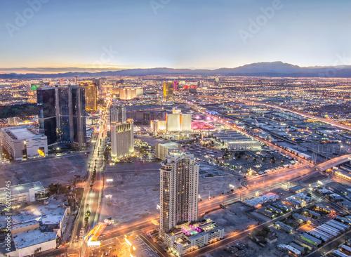 Deurstickers Las Vegas Las Vegas cityscape