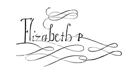 Elizabeth I (1533-1603) signature