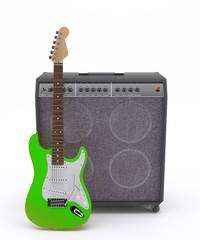 Guitarra Eléctrica Verde