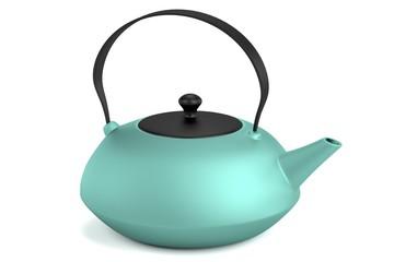 realistic 3d render of teapot
