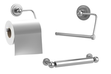 realistic 3d render of toilet holder