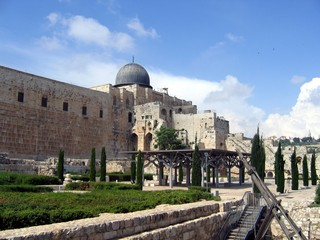 Al Aqsa Mosque in Jerusalem. Muslim holy place in Israel