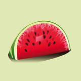 slice of ripe red watermelon with seeds