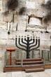 Big menorah at Western wall. Jerusalem