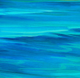 sea smooth surface, painting by oil on canvas, illustration, bac