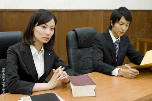 Leinwanddruck Bild lawyer with serious look