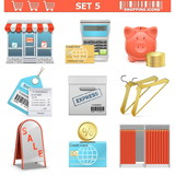 Vector Shopping  Icons Set 5