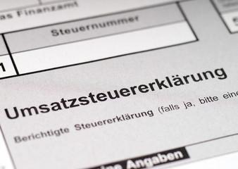 Formular für die Umsatzsteuererklärung