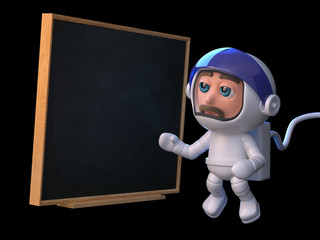 3d Astronaut teaches in space