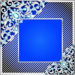 background frame with jewels of ornaments