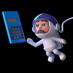 3d Astronaut calculates his trajectory