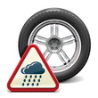 Vector Rain Tire with Sign