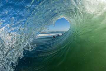 Wave Hollow Tube Ride Surfer Angle