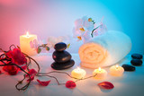 spa composition - seductive atmosphere for massage