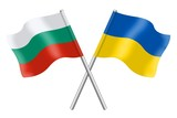 Flags: Ukraine and Bulgaria