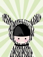 enfant zebre
