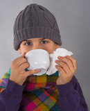 boy drinking tea